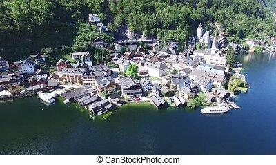 Hallstatt village next gmunden - Hallstatt village on...