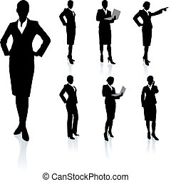 Businesswoman Silhouette Collection Original Vector...