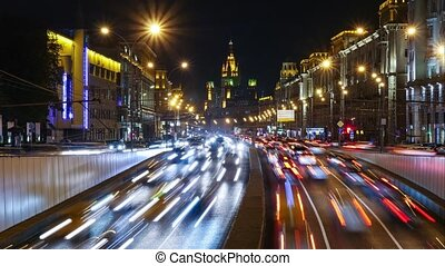 Traffic Time Lapse - Moscow, Garden Ring road