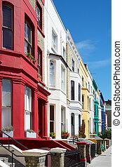 Colorful english houses, London - Colorful english houses...
