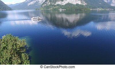 Hallstatt ship austria - Hallstatt village on Hallst?tter...