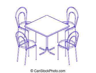 Dining table and chairs - The sketch of the design decision...