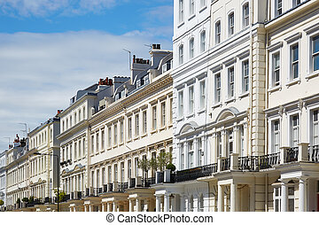 White houses in London, sunny