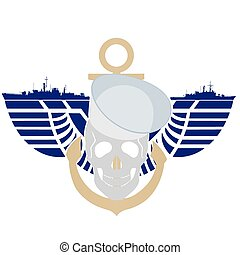 Navy - Icon Navy USA The illustration on a white background...