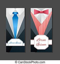 Set templates with men's suits