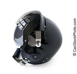 Aviator Helmet - black aviator helmet isolated on a white...