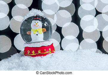 Xmas Snow Globe - Snow globe with snowman over christmas...