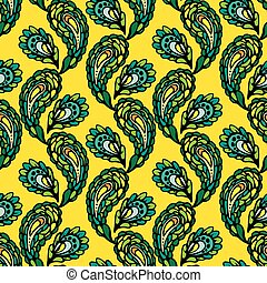 Seamless pattern - peacock feathers, abstract background