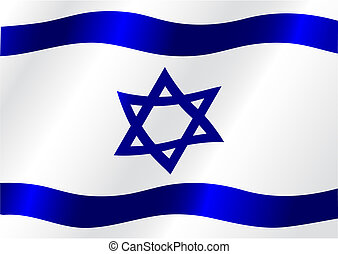 Flag of Israel for design as a background or texture