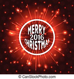 Merry Christmas 2016 Vector illustr - Merry Christmas 2016...