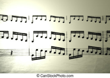 Music sheet - A sheet of classic music taking in 2010