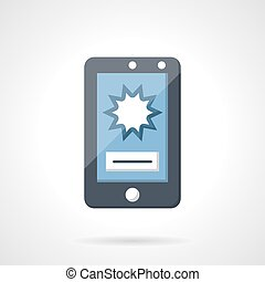 Flat vector icon for shooting video with phone
