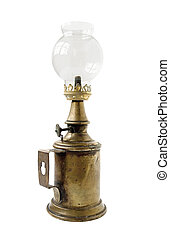 oil lamp - old vintage glass oil lamp