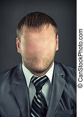 Businessman without face - Portrait of businessman without...