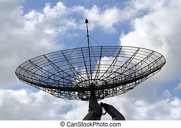 Communication radar on a cloudy sky