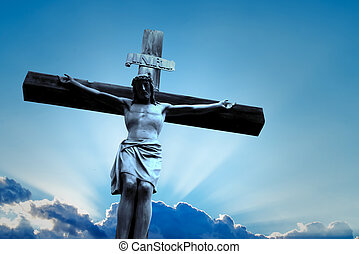 The crucifixion of Jesus - Jesus Christ Son of God over...