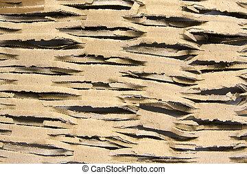 cutted cardboard background closeup