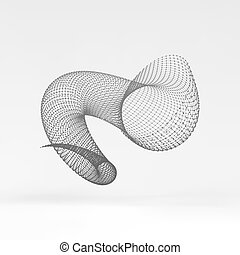Helix. Molecular lattice. Connection structure. 3d Vector...