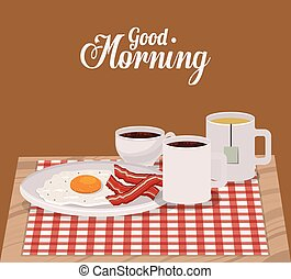 good morning breakfast design, vector illustration eps10...