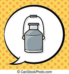 milk bucket doodle
