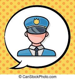 police officer doodle