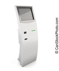 informação, kiosk., informação, terminal, para, Recebendo,...