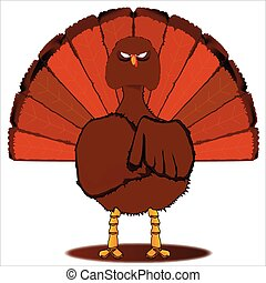 Stern Christmas Turkey. - A stern look from a traditional...