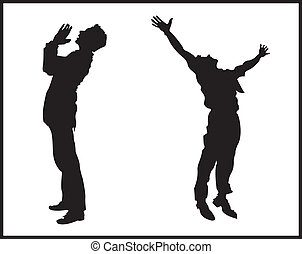 praise - two men praising god