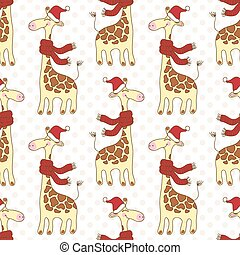 Seamless giraffes pattern - Seamless pattern with cute...