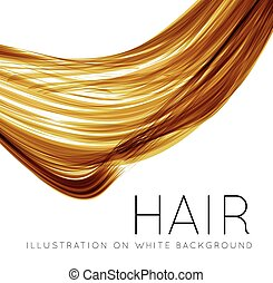 Closeup of long human hair with tilt shift effects Vector...