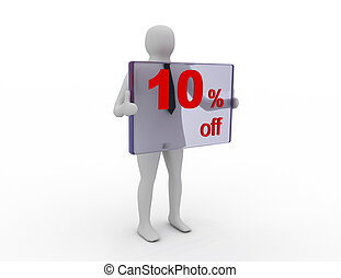 Seasonal sales 10  pecent off for shopping discount