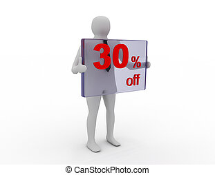 Seasonal sales 30 pecent off for shopping discount