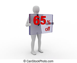 Seasonal sales 65 pecent off for shopping discount