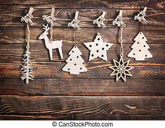 christmas decoration on the wooden table, christmas...
