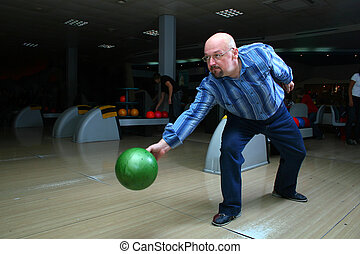 Bowling - The man, a playing bowling alley