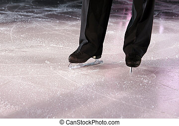figure skater - The man figure skater in ice stadium
