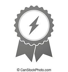 Vector badge icon with a lightning