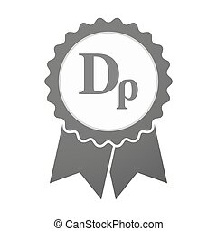 Vector badge icon with a drachma currency sign -...