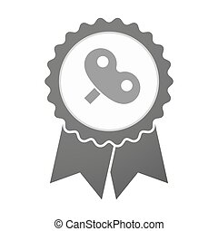 Vector badge icon with a toy crank - Illustration of an...