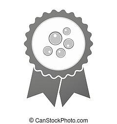 Vector badge icon with oocytes - Illustration of an isolated...