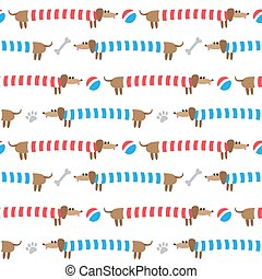 Seamless pattern with dachshunds - Seamless pattern with...
