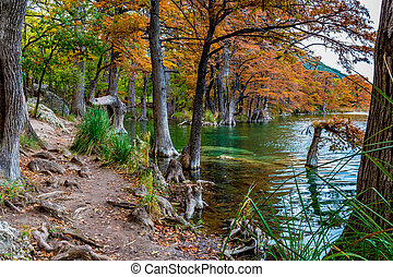 Garner State Park, Texas - Beautiful Fall Foliage...