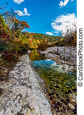 Lost Maples State Park, Texas - Beautiful Fall Foliage of...