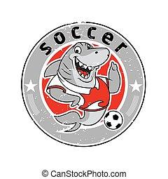 Shark mascot team logo soccer