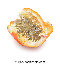 granadilla - passion fruit isolated on white