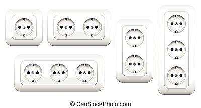 Sockets Double Triple - Sockets - european double and triple...