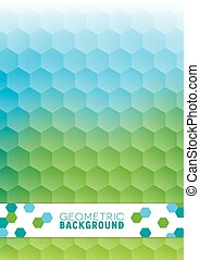 Geometric Abstract Background with Hexagons