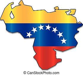 Venezuelan flag map - Venezuelan flag