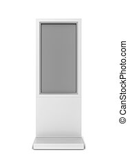 Lcd display stand. 3d illustration isolated on white...