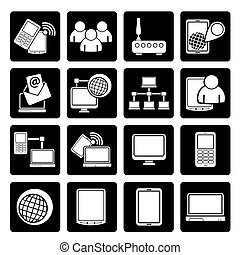 technology equipment icons